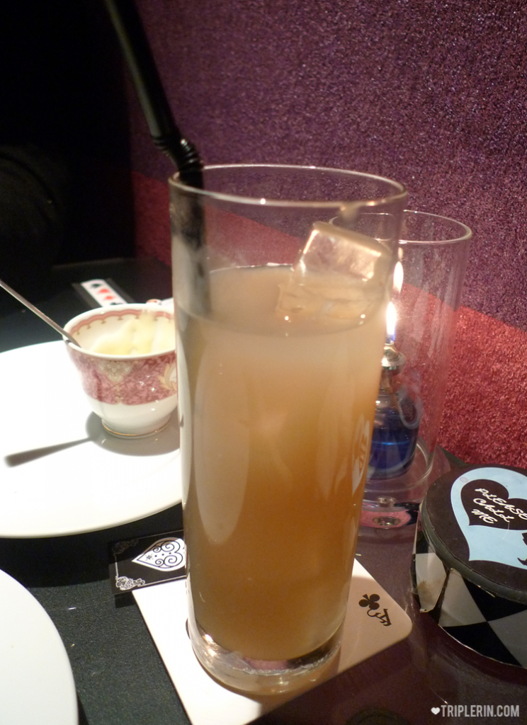 Dunno why the peach nectar I ordered the first time so ugly! No theme one! Boo hoo. Also no mood to position it and take photo. Only saving grace is that it was delicious.