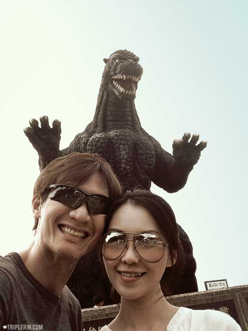 Ok, now you can see Godzilla AND the man