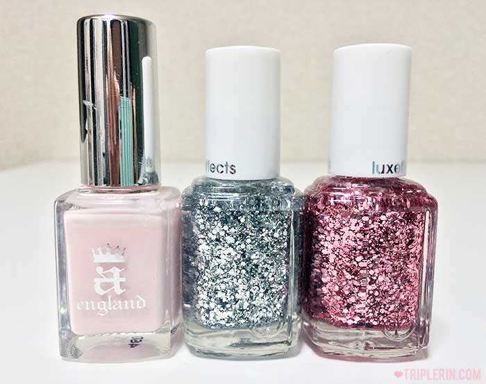 a-england's iseult; Essie's Set in stones; Essie's A cut above;