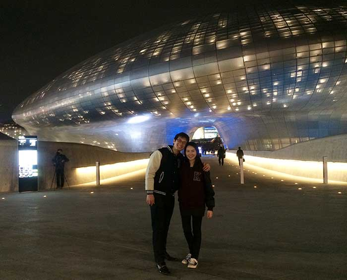 Dongdaemun Design Plaza, which opened just a day before we arrived